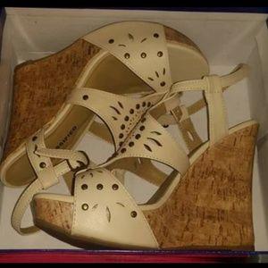 Tan wedge heel